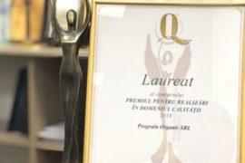 """""""Prograin Organic"""" S.R.L. este laureat al concursului Premiul pentru realizări în domeniul calității, luând premiul mare: ZEIȚA CALITĂȚII!"""